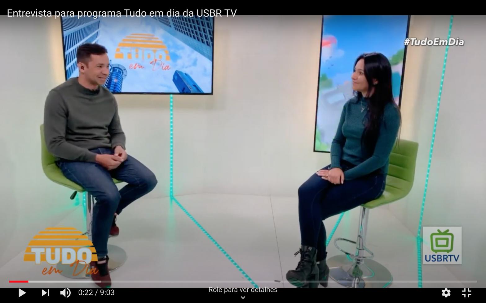 Entrevista para programa tudo em dia USBR TV